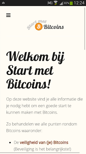 Start met Bitcoins