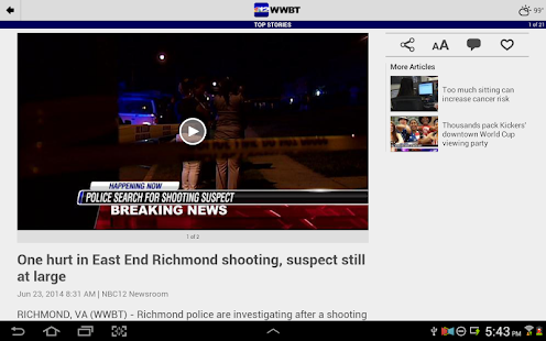 WWBT NBC12 News - screenshot thumbnail