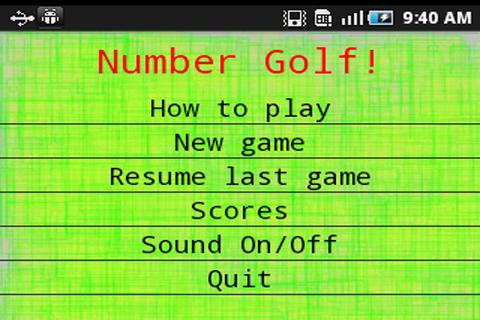 Number Golf