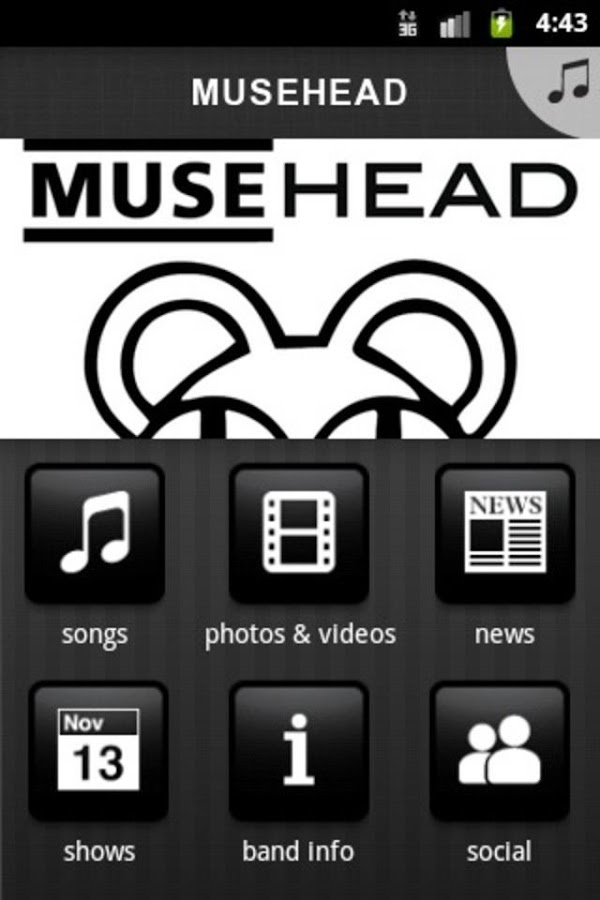 MUSEHEAD - screenshot
