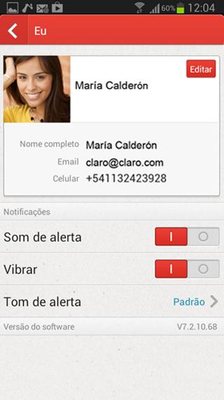 MSNGR Claro - screenshot