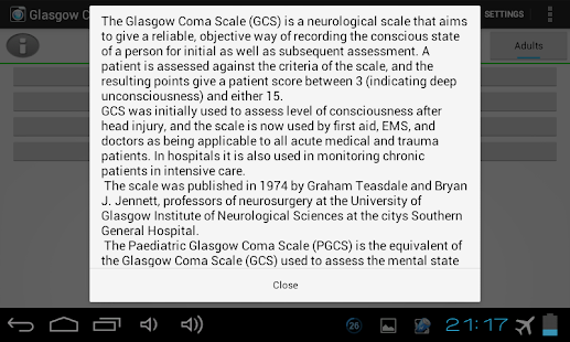 Glasgow Coma Scale PRO - screenshot thumbnail