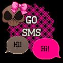 GO SMS - Girly Skulls 9 icon