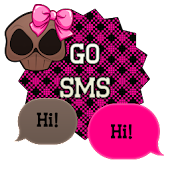 GO SMS - Girly Skulls 9