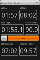 Screenshot of F3J timer