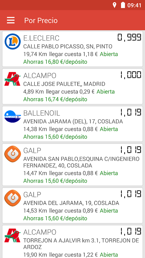 Gasolineras España - screenshot