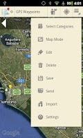 Screenshot of GPSWaypoints