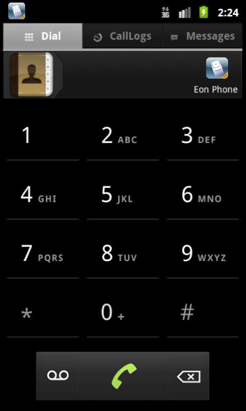 Eon Phone Pro.© - Mobile VoIP - screenshot