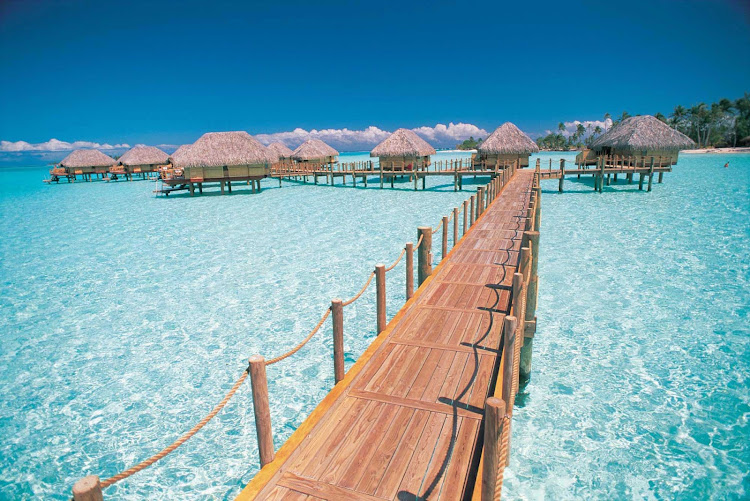 Bora Bora Pearl Beach Resort is set amid the gentle beauty of the reef that crowns the island.