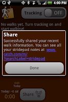 Screenshot of stridepad