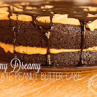 Creamy Dreamy Chocolate Peanut Butter Cake