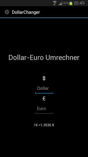Dollar-Euro Rechner