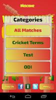 Screenshot of Word Jumble Cricket Players