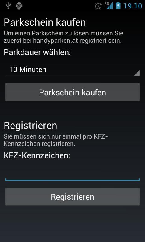 KurzParkenWien- screenshot