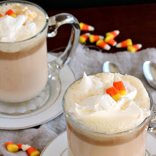 Candy Corn Peanut Butter White Hot Chocolate