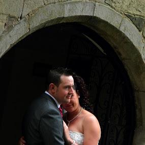 Closeness by Mick Greaves - Wedding Bride & Groom ( closeness, wedding, bride and groom, bride, groom,  )