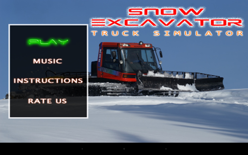 雪挖掘機卡車類比