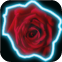 Blooming Rose battery widget icon