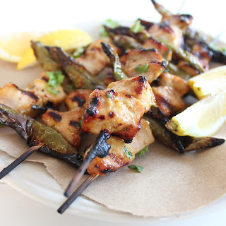 Roasted Jalapeño Honey Chicken Skewers