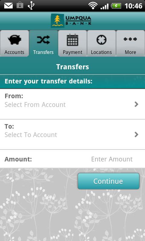 Umpqua Mobile Banking - screenshot