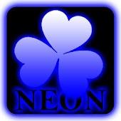 Blue neon theme GO Launcher EX