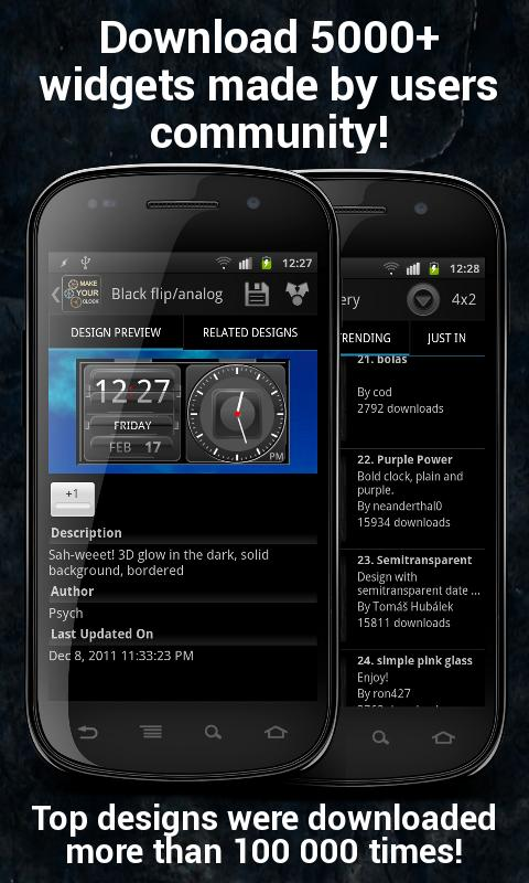 Make Your Clock Widget - screenshot