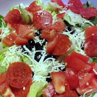 Low Carb Pizza Salad.