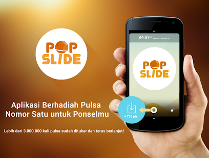 Pulsa Gratis Untuk Android dengan Pop Slide