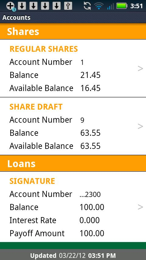 Pikes Peak Credit Union Mobile - screenshot