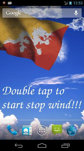 3D Bhutan Flag Live Wallpaper
