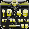 dragon digital clock yellow icon