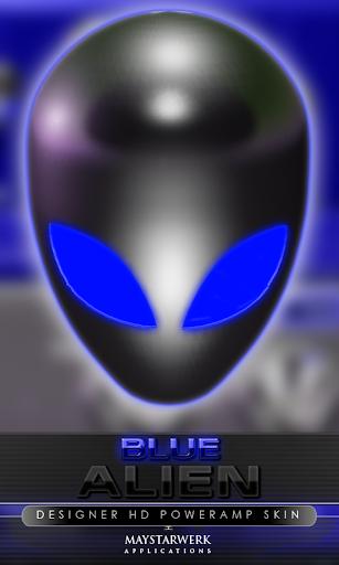 后皮肤外星人蓝色