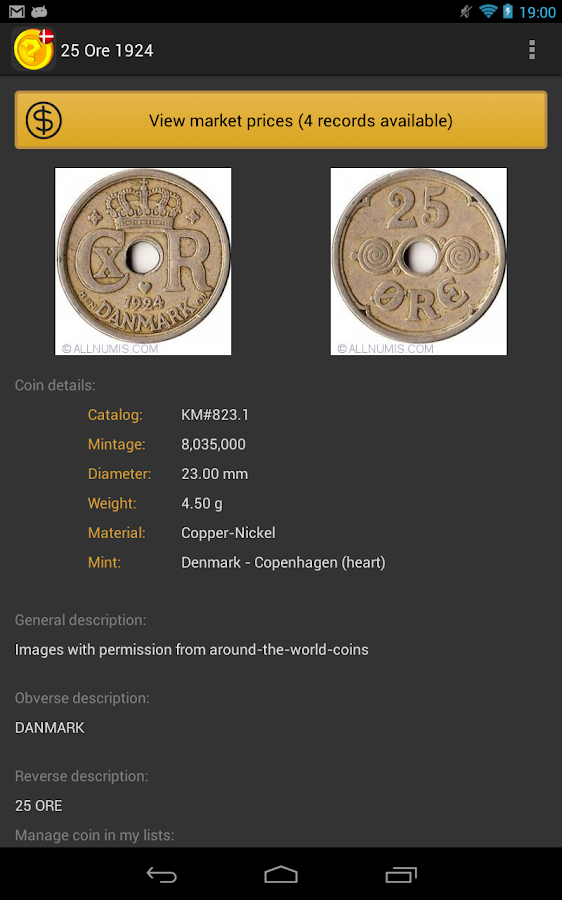Danish Coins - screenshot