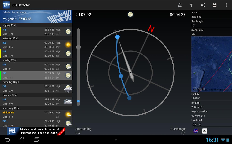 ISS Detector Satellite Tracker - screenshot