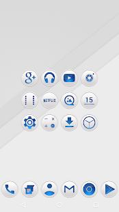 Clean Blue - Icon Pack Screenshot 2