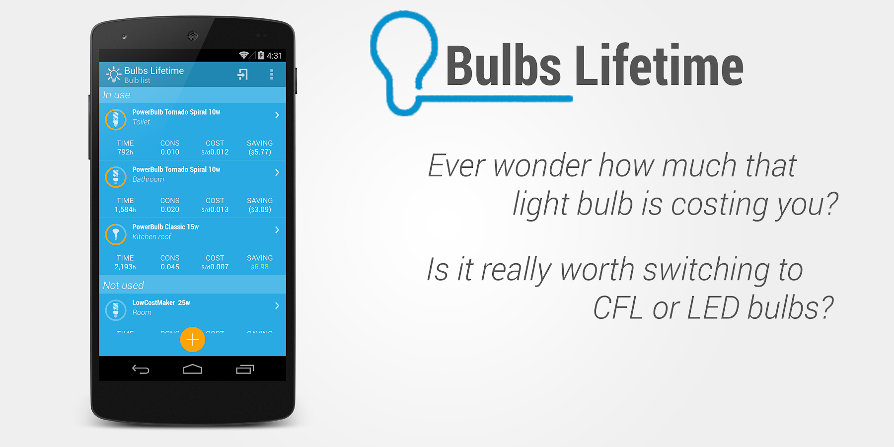 Light Bulbs Lifetime- screenshot
