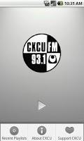 Screenshot of CKCU Radio