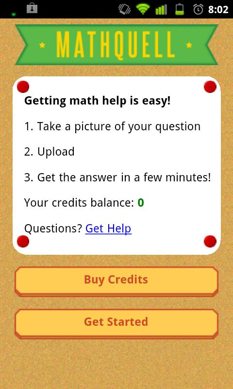 MathQuell Math Homework Tutor - screenshot