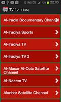Screenshot of TV from Iraq