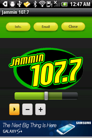Jammin 107.7 - screenshot