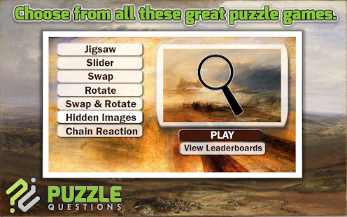 Free Joseph Turner Puzzles