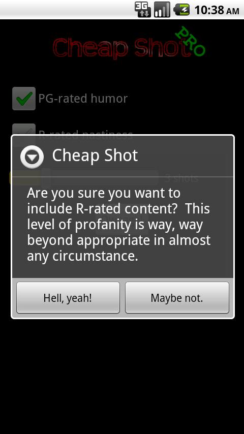 Cheap Shot Pro - screenshot