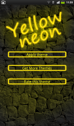 Yellow Neon Keyboard