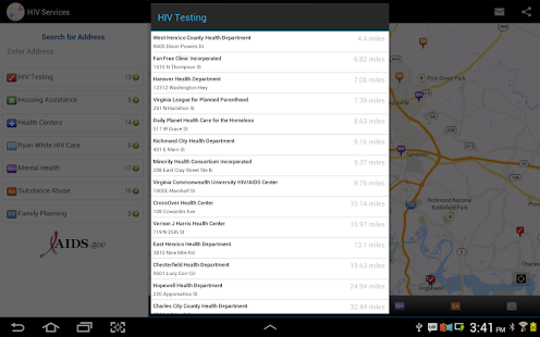 HIV Testing & Services Locator - screenshot thumbnail