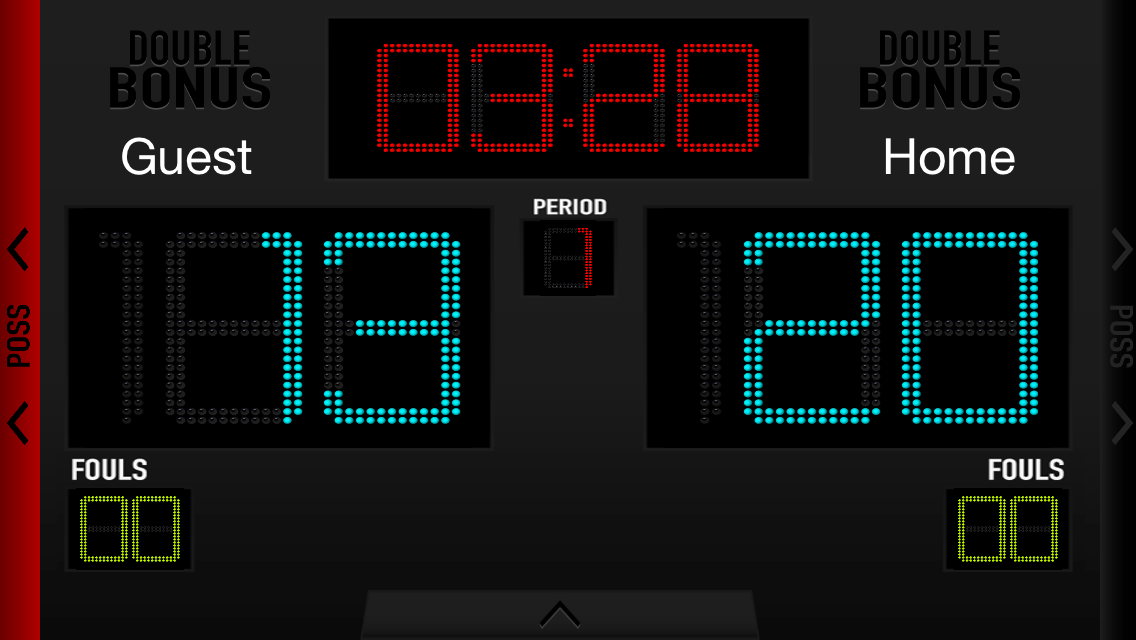 Basketball Scoreboard- screenshot