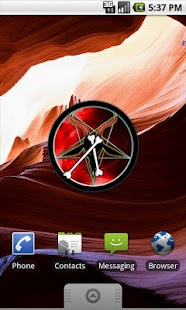 Satan Analog Clock Widget