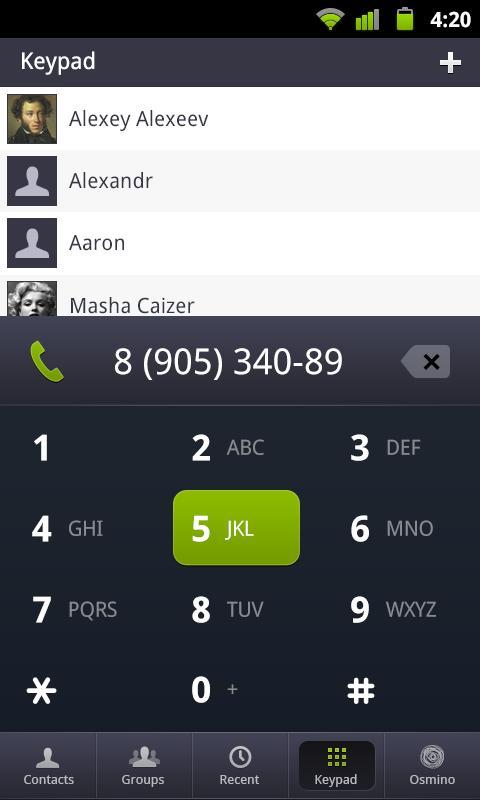 osmino: contact manager- screenshot