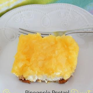 Creamy Pineapple Pretzel Dessert.