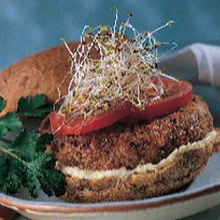 Lentil-Veggie Burgers with Creamy Almondaise