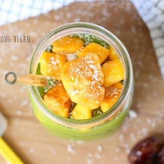 Tropical Green Mango Smoothie.